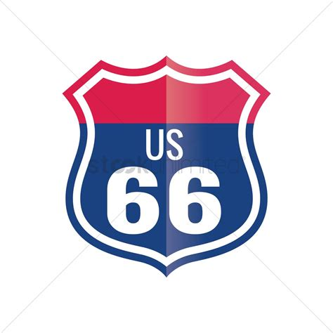 File Route66 Sign Jpg Route 66 Sign Vector Image 1558996 Stockunlimited