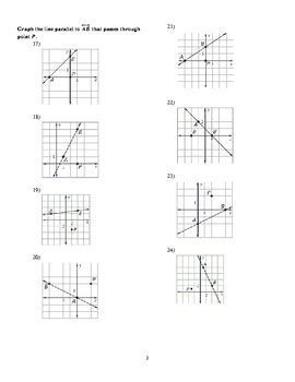 slope of parallel and perpendicular lines worksheet by wills