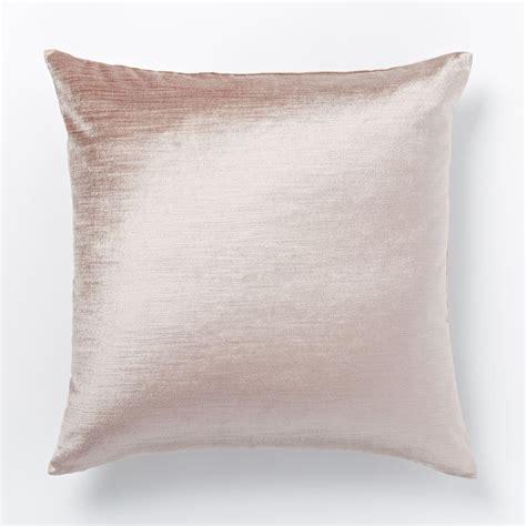 west elm pillows cotton lustre velvet cushion cover dusty blush west elm uk