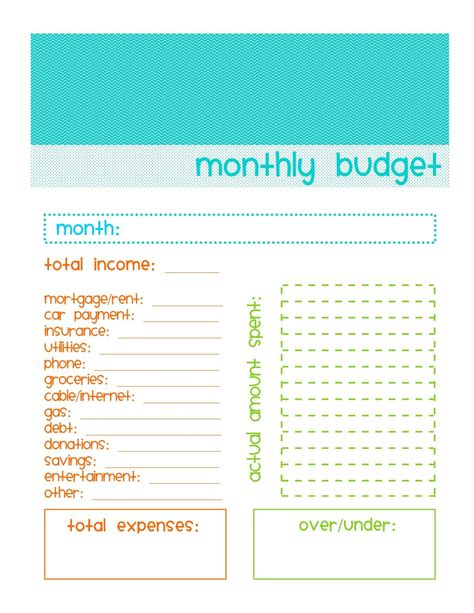 monthly budgeting worksheet simple budget template