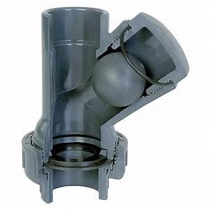 Clapet Anti Retour Pvc : aquiflor pvc 40mm balle clapet anti retour y type ~ Melissatoandfro.com Idées de Décoration