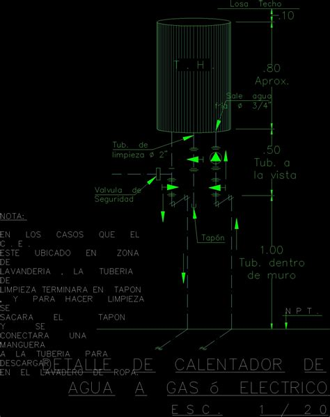water heater details dwg detail for autocad designs cad