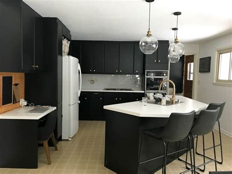 Black Cupboard by How To Paint Black Kitchen Cabinets Our Kitchen Renovation