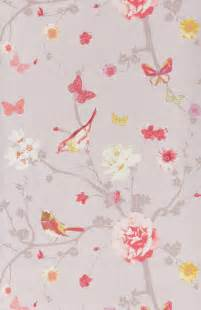 Papier Peint Floral by Papier Peint Branche Oiseau Jaun Papier Peint Floral