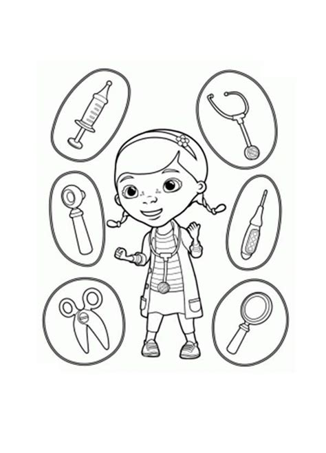 doc mcstuffin coloring pages doc mcstuffins and equipment coloring page