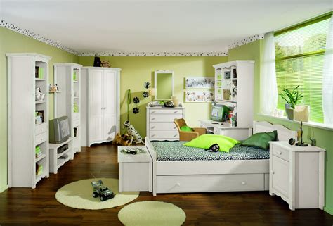 Classy White Ikea Bedroom Furnishings Ideas With Green Wall Painted Also Green Rounded Bedroom
