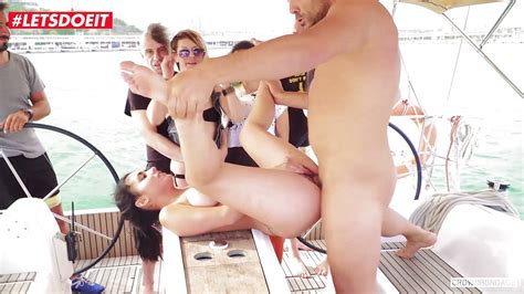 Spanish Teen Gets Her First Crowd Bdsm Sex On A Yacht