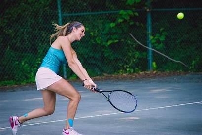 Lob Tennis Shot Hit Sports