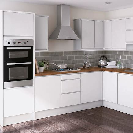 gloss kitchen tile ideas kitchen compare homebase essential kensal high gloss 8496
