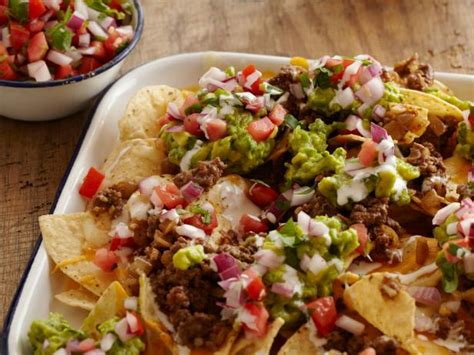 nacho recipe beef nachos recipes cooking channel recipe cooking channel