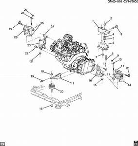 2004 Pontiac Bonneville Engine  U0026 Transmission Mounting