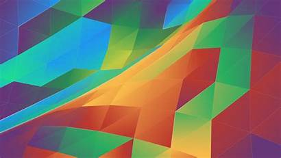 Abstract Colorful Triangle Plasma Triangles 4k Kde