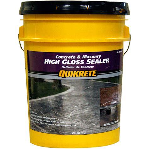 high gloss sealer quikrete high gloss sealer wet look 5 gal