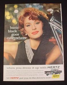 Magazine Ad for Hertz Rent A Car, 1963, Woman with Black ...