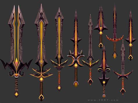drt fantasy arms swords vr ar ready cgtrader