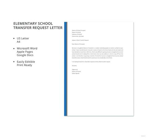 10 school transfer letter templates pdf doc free