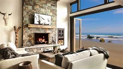 Background Fireplace Beach Living Cosy Vimeo Screensaver