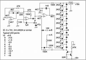 analog vu meter lm324 circuit diagram world With vu meter circuit with 10 led b2b electronic components