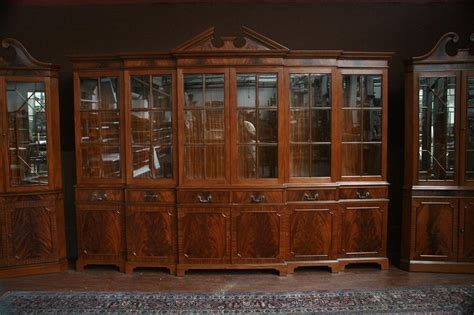 China Cabinet Used by Large Mahogany China Cabinet Six Door Breakfront Ebay