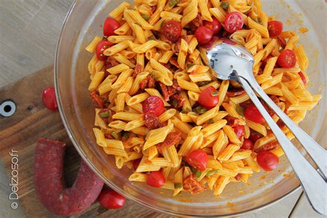 vinaigrette pour salade de pates salade de p 226 tes au chorizo par delizioso