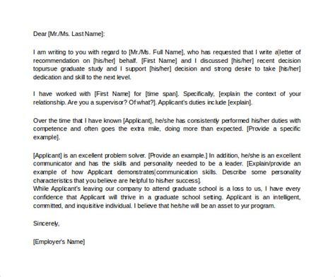 sample letters  recommendation  graduate school