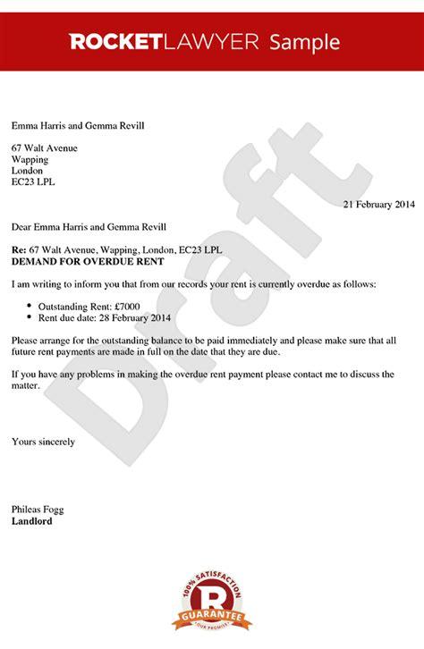 rent demand letter create  overdue rent letter