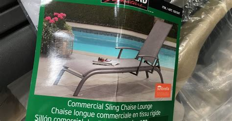 kirkland commercial patio furniture kirkland signature commercial sling chaise lounge costco