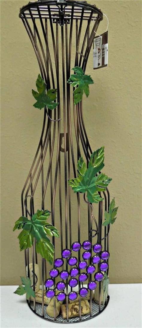 18 quot metal wine cork cage holder bottle black wall hanging