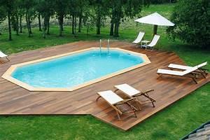 piscine bois enterree arts et voyages With superb terrasse piscine semi enterree 1 les piscines en bois en photo