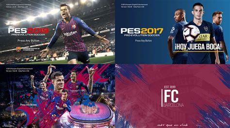 pes  start screen packs    micanou pes patch