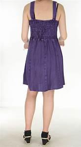 Robe Boheme Courte : robe courte d 39 t esprit boh me mauve au bustier lac amala ~ Melissatoandfro.com Idées de Décoration