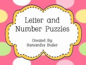 7 best images about letter puzzles on pinterest letter With number and letter puzzles
