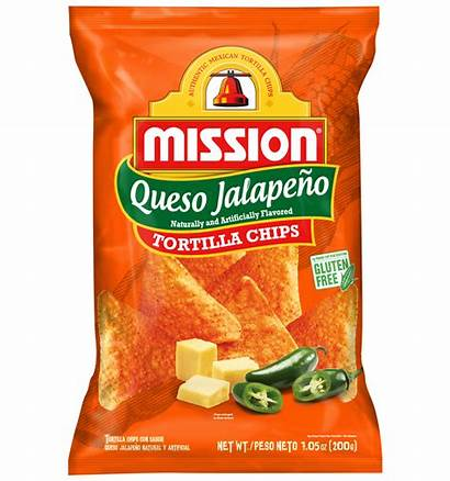 Chips Tortilla Queso Jalapeno Mission Foods Send