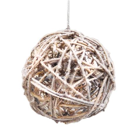 donner blitzen incorporated silver rattan ball christmas