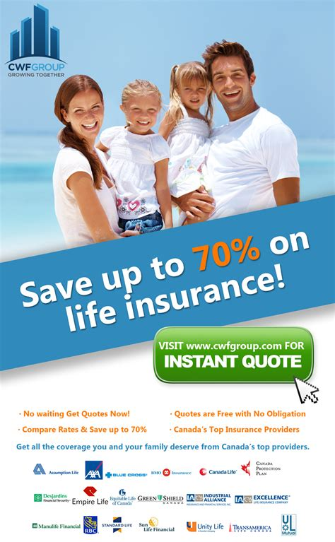 Get free quotes and talk to our insurer experts Life Insurance   CWF GROUP INC.