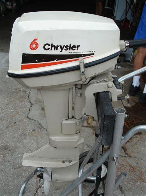 Chrysler Boat Motor by 6 Hp Chrysler Outboard Boat Motor