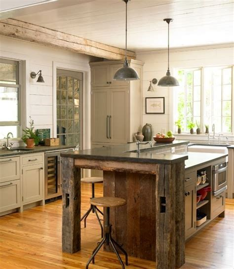 kitchen island reclaimed wood reclaimed barn wood kitchen island at home on the range pinterest