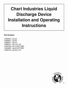 Chart Industries Liquid Discharge Device Installation And