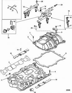 Mercruiser 4 3l Mpi Alpha    Bravo Intake Manifold  U0026 Fuel
