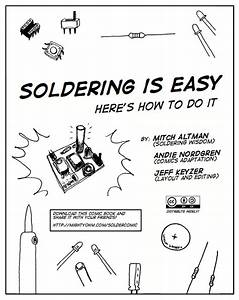 the soldering is easy comic book now with arabic With soldering rcuit