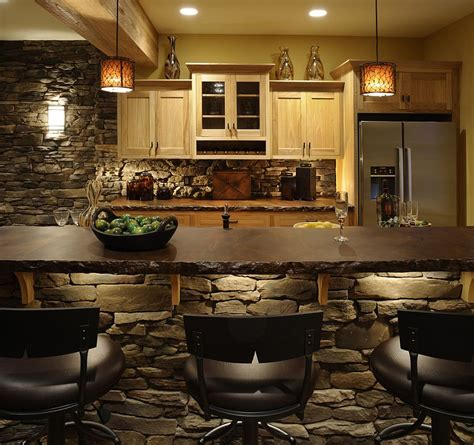 inventive kitchens  stone walls
