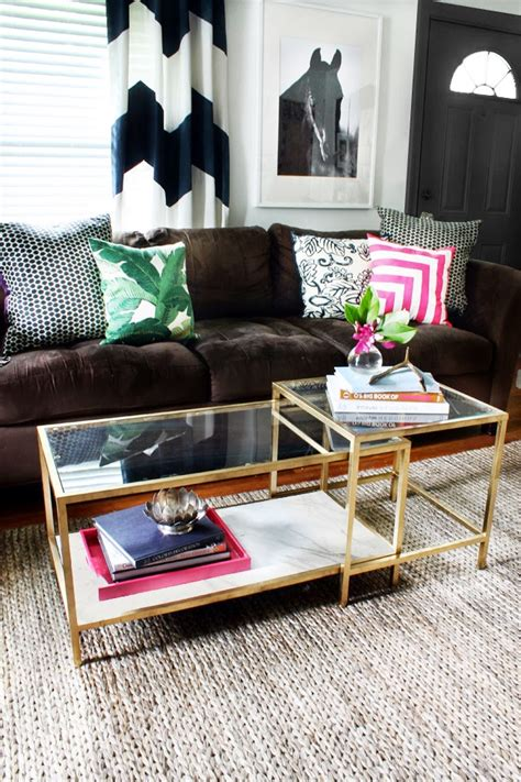 ikea table decorations diy tuesday easy gold ikea coffee table hack betterdecoratingbiblebetterdecoratingbible