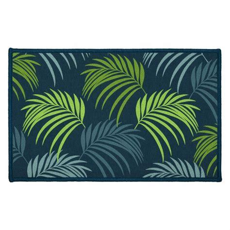 tapis multi usage  cm blue vegetal bleu tapis eminza