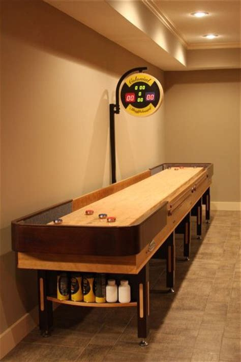 shuffleboard table man cave game room