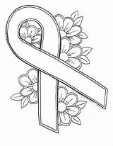 Cancer Breast Ribbon Coloring Awareness Printable Drawing Lung Worksheets Drawings Getdrawings Violence Domestic Tattoo Ribbons Crafts Getcolorings October Any Sheets sketch template
