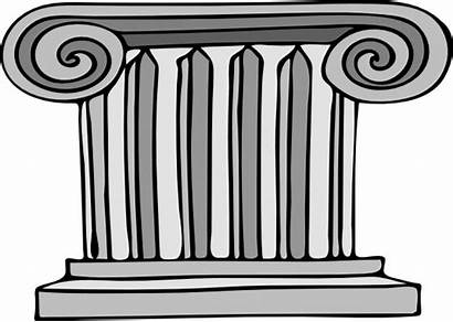 Clipart Pillar Clip Pillars Greek Column Cartoon