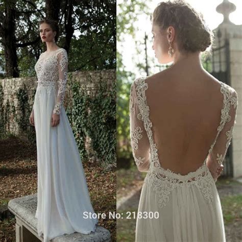 Buy Backless Long Sleeve Lace Wedding
