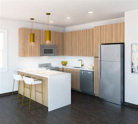 warm modern home modern kitchen  york