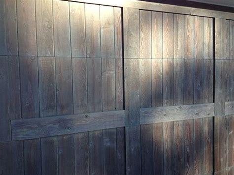 semi transparent stain   wood garage door  flagstaff