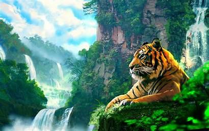 Jungle Tiger Fantasy Nature Asian Cat Cats